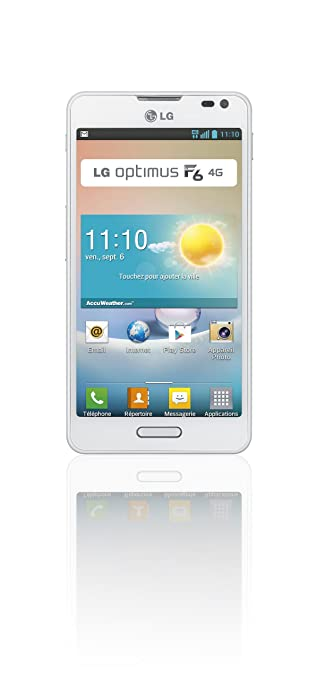 LG F6 Smartphone débloqué 4G (8 Go - Android 4.1 Jelly Bean) Blanc