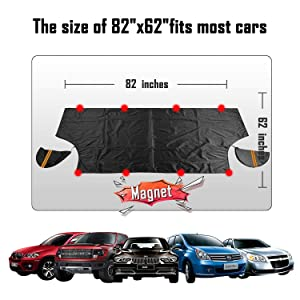 SUVs Trucks Windshield Snow Ice Covers Extra Larger Size 97x 63 Cover with 3 Layers Material Protection- Waterproof Sun Protection All Cars MPVs