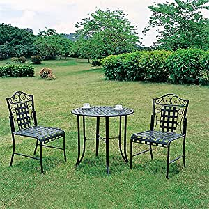 3 piece metal bistro set outdoor and patio