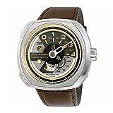 SEVENFRIDAY Men's Swiss Quartz Stainless Steel Watch, Color:White (Model: V2-01) (Color: brown)