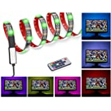 USB LED Strips Bias TV Backlight Multi-Color RGB LED Strip TV Light 100CM(3.28Ft) 30leds Strip Lighting Kit for Flat Screen TV LCD, Desktop Monitors