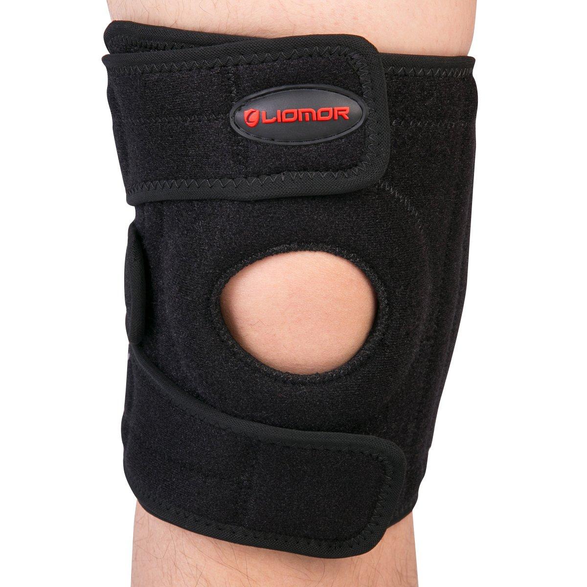 Liomor Knee Brace - Breathable Neoprene Knee Support for Running Adjustable Brace Meniscus Tear Fit Support with Open Patella Design