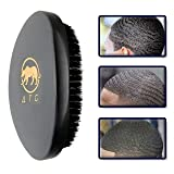 Against The Grain 360 Wave Brush for men   Beard   Hair   Old school barbershop style brush   100% pure boar hair bristle  perfect for layered waves, beards, mustache made with real wood