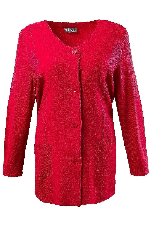 Ulla Popken Boiled-Wool-Jacke rot 58/60 700826 51-58+ jetzt bestellen