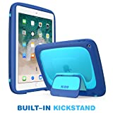 New iPad 9.7 2018/2017 Case for Kids, Mumba iPad 9.7 Inch Protective Case for Apple iPad 5th/6th Generation [KIDO Series] [Kickstand] [Shoulder Strap] (Blue) (Color: Blue)