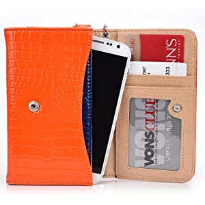 Exxist Classy Women's Wristlet Phone Accessory Wallet Purse Clutch Fits HTC Droid DNA | One X+