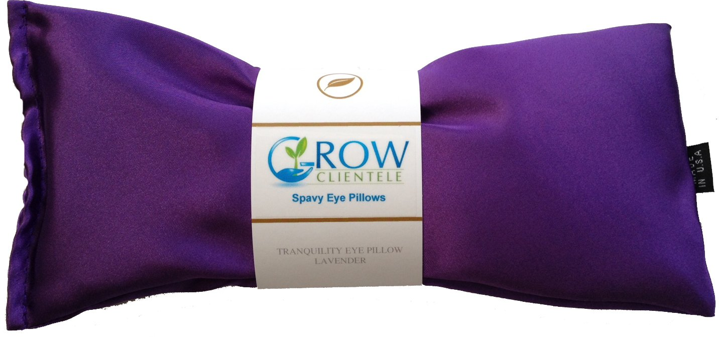 Lavender Eye Pillow - Perfect for Meditation After Yoga - Great for Aromatherapy, Tranquility & Stress Relief - Ultra Silky Satin - Filled with Organic Flax Seed & French Lavender lavender eye pillow perfect for meditation after yoga great for aromatherapy tranquility