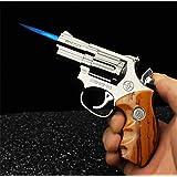 FengFang Windproof Lighter Revolver Inflatable Reusable Butane Cigar Metal Lighter (912#)