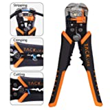 Wire Stripper, Tacklife Self-Adjusting 8.4 Inch Cable Cutter Crimper , 3 in 1 Multi Pliers for Wire Stripping, Cutting, Crimping- MWS02 (Color: Orange+Black, Tamaño: MWS02)