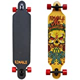 RIMABLE Drop-through Longboard 41Inch (Yellow Skull) (Color: YellowSculls)