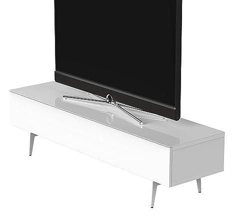 Sonorous STD 360F-WHT-WHT-SL Studio TV-Lowboard fur 177,8 cm (70 Zoll) Fernseher weiß
