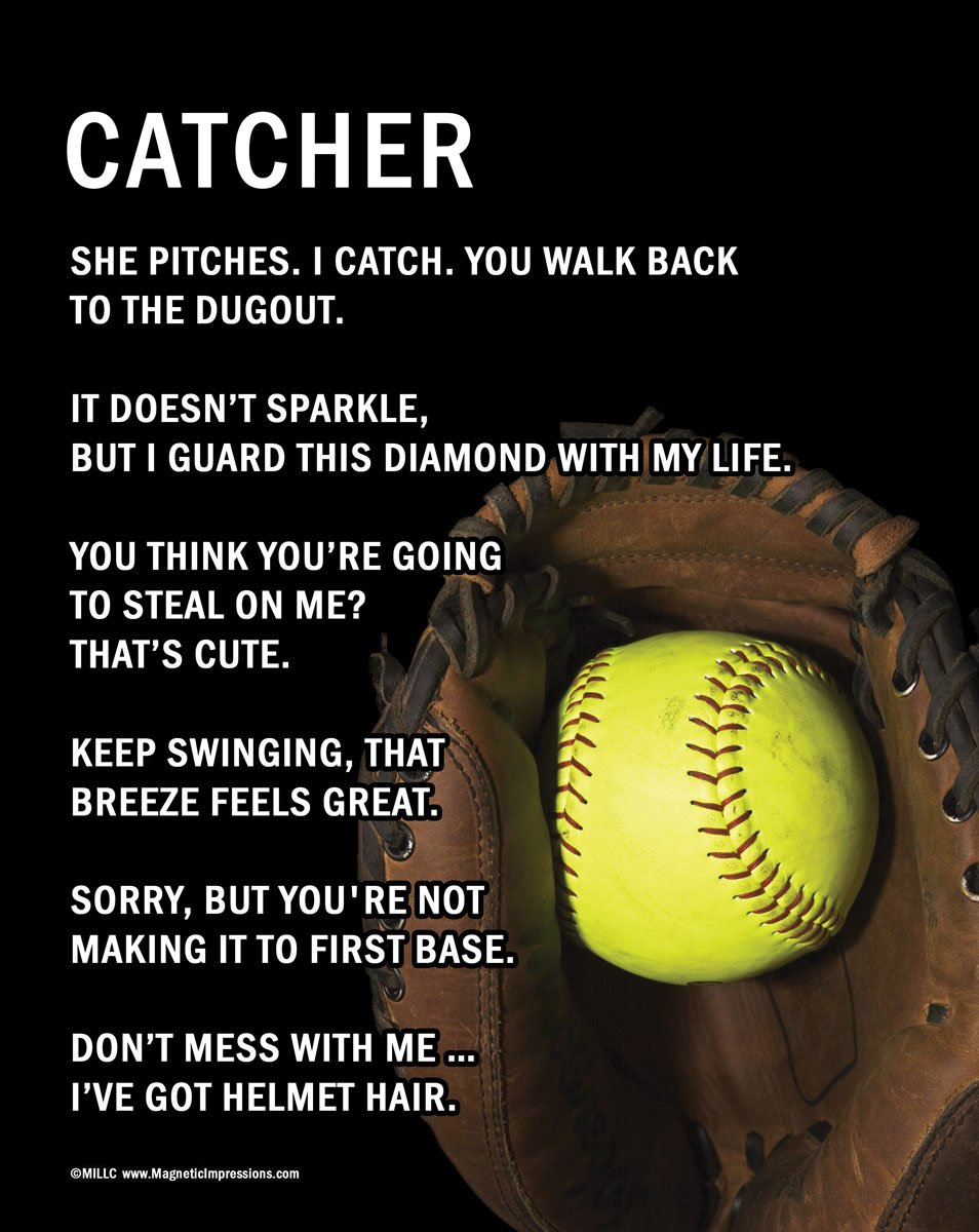 Softball Catcher Backgrounds Unframed Softball Catcher 8 Quot x