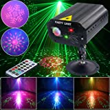 Disco DJ Light Party Light Strobe Stage Light LED light Sound Activated with Projector Effect Remote Control for Birthday Bar Club Wedding Christmas KTV Karaoke Festivals (Color: led party lights)