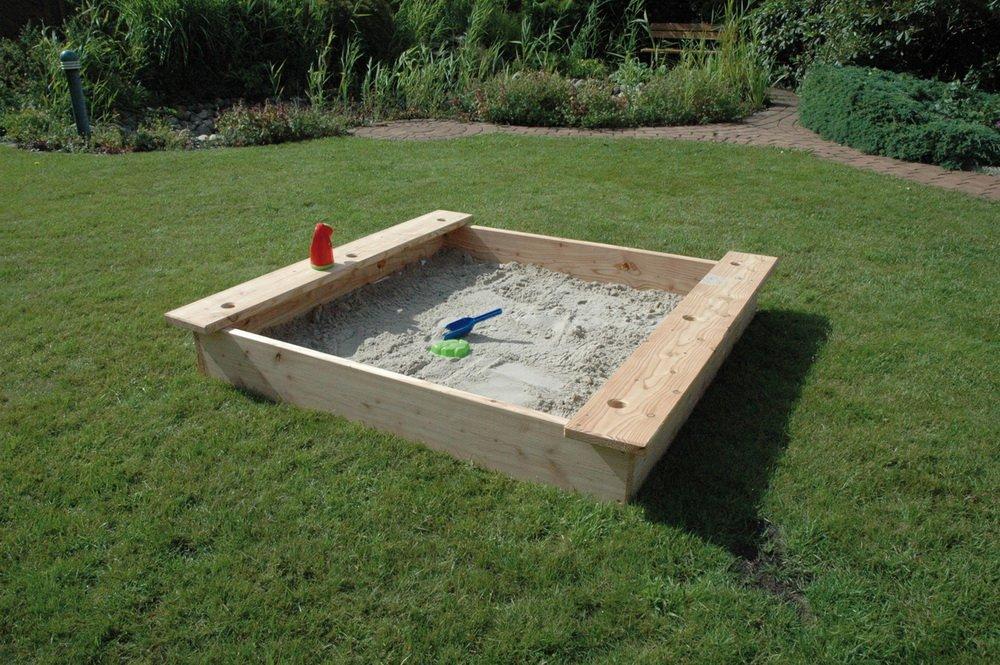 Sandkasten 150X 150cm Moritz Spezial, mit 2 Sitzbrettern Jeweils 3