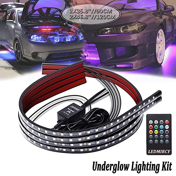 Beatto 15.5inch RGB LED Wheel Ring Light Kit Bluetooth Control w//Turn Signal and Braking Function-4PCS SINGLE side