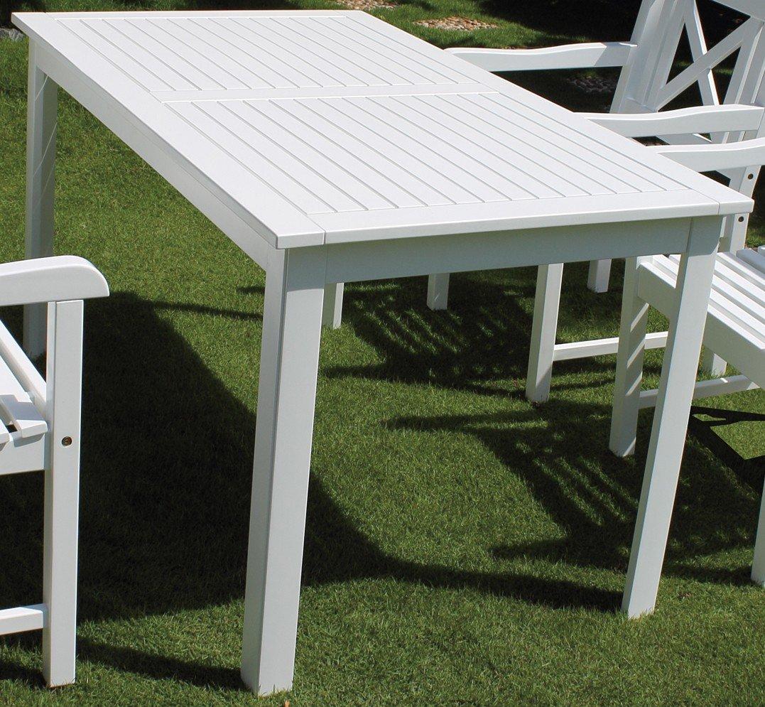 tisch 140x80 cm madrid weiss 55556 online kaufen. Black Bedroom Furniture Sets. Home Design Ideas