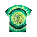 Ripple Junction Rick and Morty Large Portal Adult T-Shirt Large Green Tye Dye (Color: Green Tye Dye, Tamaño: Large)