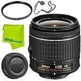 Nikon AF-P DX NIKKOR 18-55mm f/3.5-5.6G VR Lens Base Bundle (Color: 18-55MM P, Tamaño: Base)