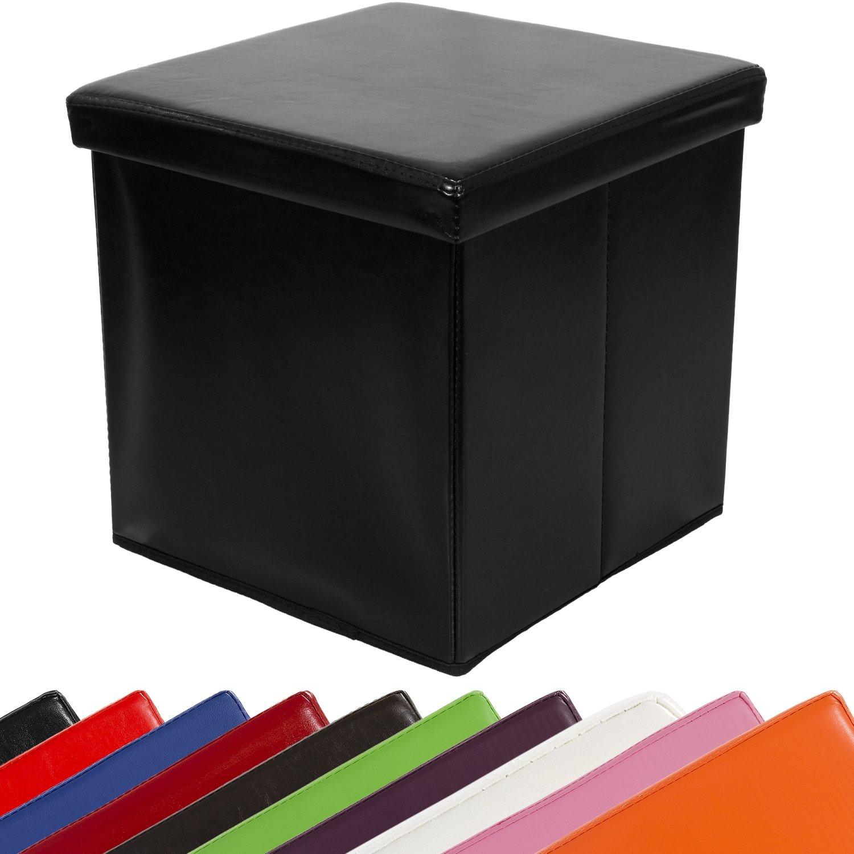 """STILISTA® Sitzwürfel """"CUBE"""", 38x38x38cm, MDF + Kunstleder, faltbar, 10 Farbvarianten günstig"""