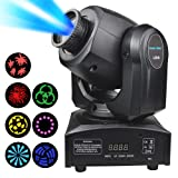 DJ Moving Stage Head Light 2018 Latest Update, 8 Colors LED Spot Lighting,Effect Wash Lights for Disco Club Wedding Party Sound/Auto/DMX512/Master-slave Controlled