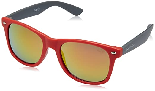 red wayfarer sunglasses uqw9  Flying Machine Wayfarer Sunglasses Red FMS 088160/108Free