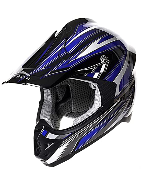 Casque Motocross Stealth 2015 HD203 Edge Bleu