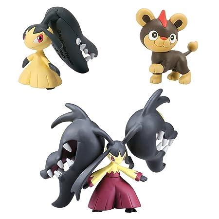 Tomy Pokémon - T18394 - Figurine Manga - Mysdibule, Mysdibule, Hélionceau - Pack de 3