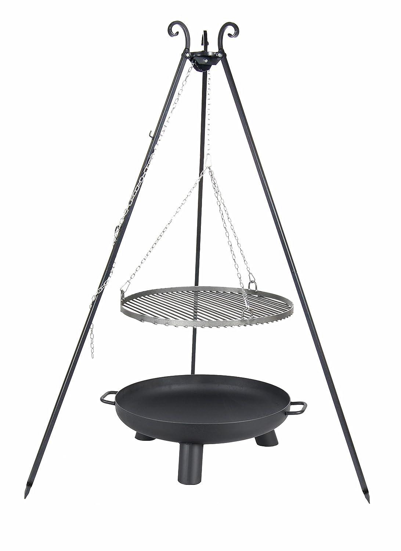 Belladecora® Schwenkgrill Komplett-Set mit Rost 70 cm, Feuerschale 80 cm, Dreibein 180 cm und Kette günstig