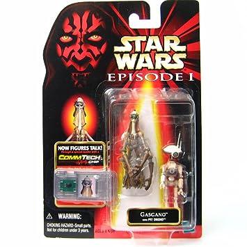 """Star Wars - Episode 1 - Collection 3 - Figurine avec Commtech Chip - Gasgano avec Pit Droid - ca. 3 3/4"""" (10 cm)"""