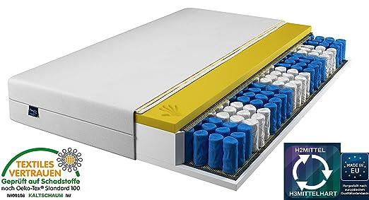 MATRATZE 180x200 cm 9 ZONEN Taschenfederkern Viscoelastische, Memory Schaum, Matratze Visco, Visco Matratzen H2 und H3
