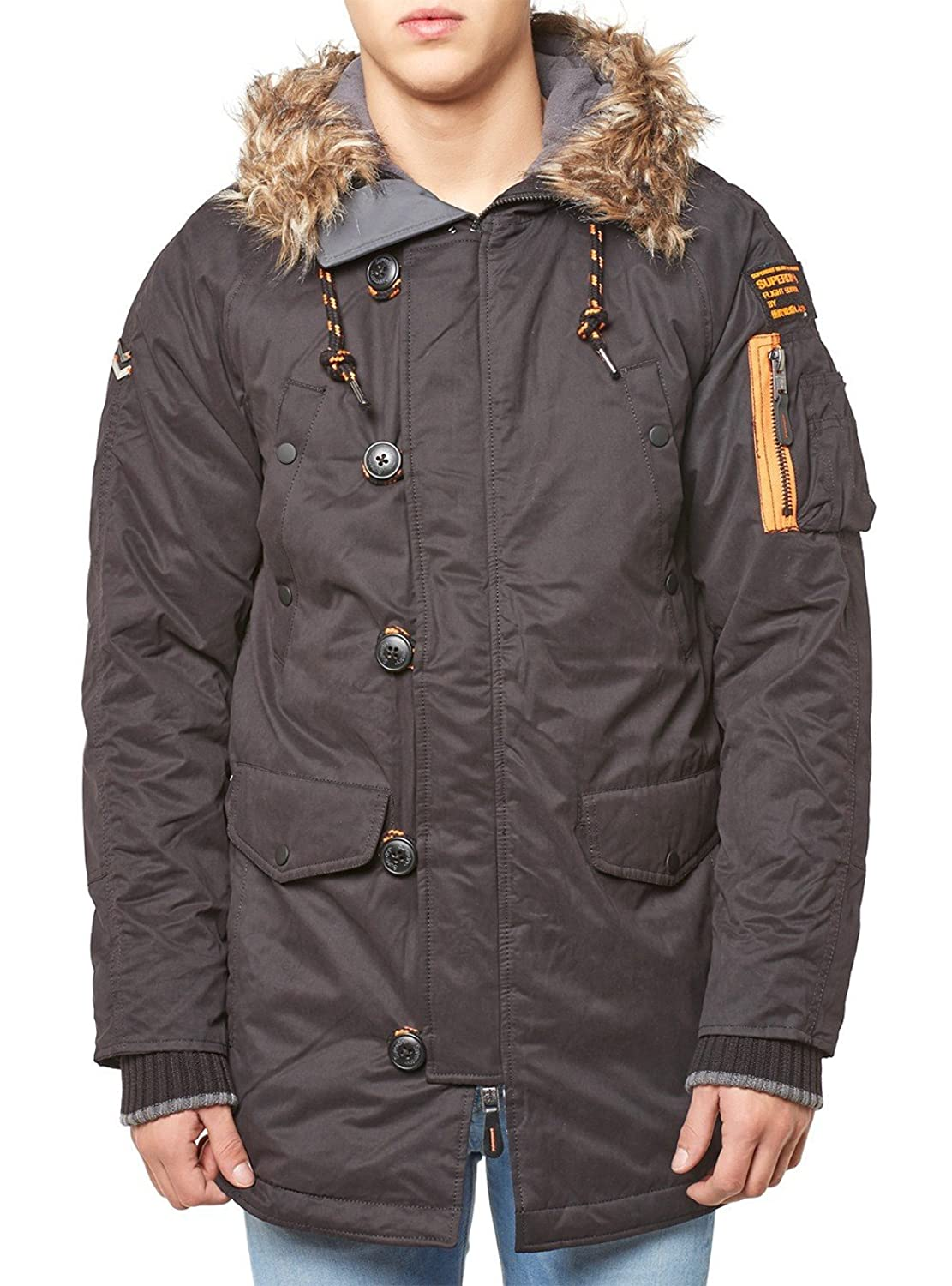 Superdry Jacke Men MICROFIBRE PARKA Black
