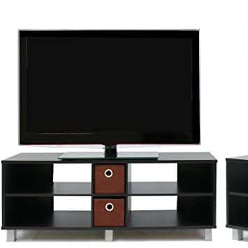Furinno 1000 Series Entertainment Center, Modern Living Room Furniture, Espresso