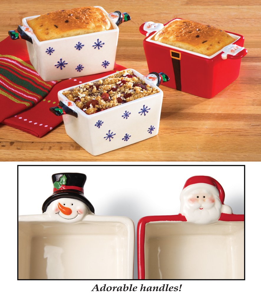 Set Of 3 Holiday Mini Loaf Pans