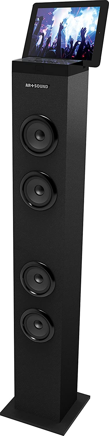 AR+SOUND Bluetooth Tall Tower Stereo Speaker System with Built-In Radio [on promotion] digital sound processor dp226 dsp sound system 2 in 6 out