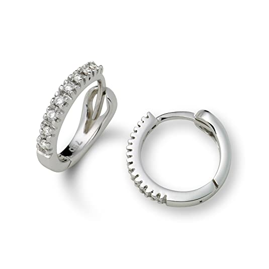 Miore M0486W Women's Earrings 18 Carat (750) White Gold with 16 Diamonds (0.1 Carats)