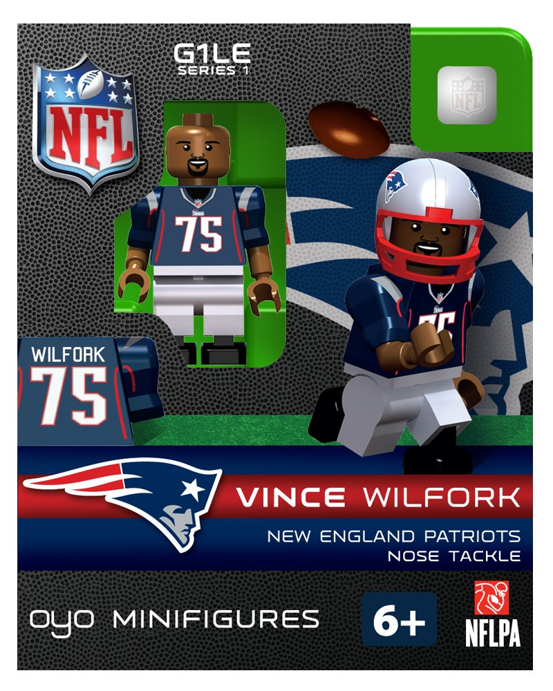 NFL New England Patriots Vince Wilfork Figure nfl fan merchandise socks new england patriots team logo leopard print knee high socks brand new