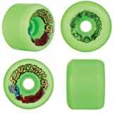 Santa Cruz Slime Ball Vomits Old School Re Issue 60mm 97a Skateboard Wheels (Neon Green)
