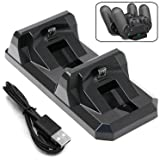 ADVcer Dual PS4 Controller Charging Station, Dualshock 4 Gamepad Charge Dock/Vertical Charger and Storage Stand Pad for Dualshock4 of Sony Playstation4 or Playstation 4 Pro, 4 Slim (Color: 03 DualShock4 Controller Charger)