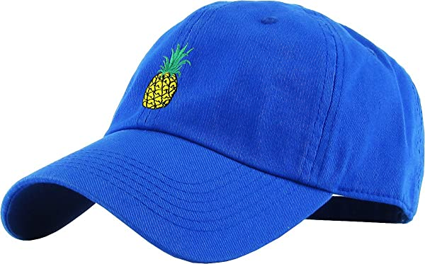 4a91a5451c5c8 KBSV-021 Roy Pineapple Dad Hat Baseball Cap Polo Style Adjustable (Color   Royal