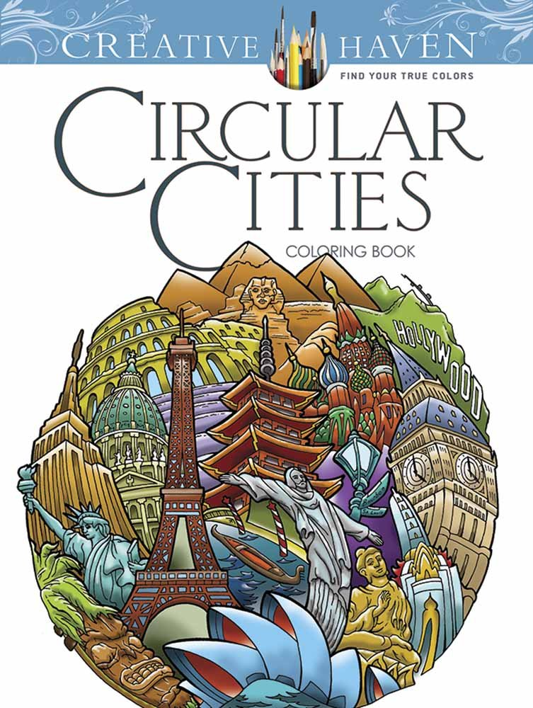 Creative Haven Circular Cities Coloring Book (Adult Coloring) ISBN-13 9780486809021