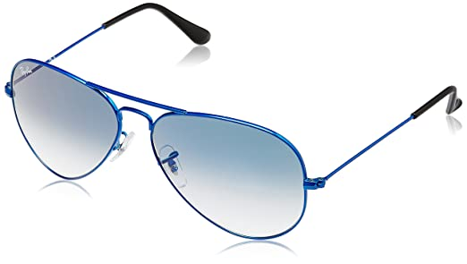 ray ban blue aviators ubu9  Ray-Ban Aviator Sunglasses Blue RB3025 088/3F55