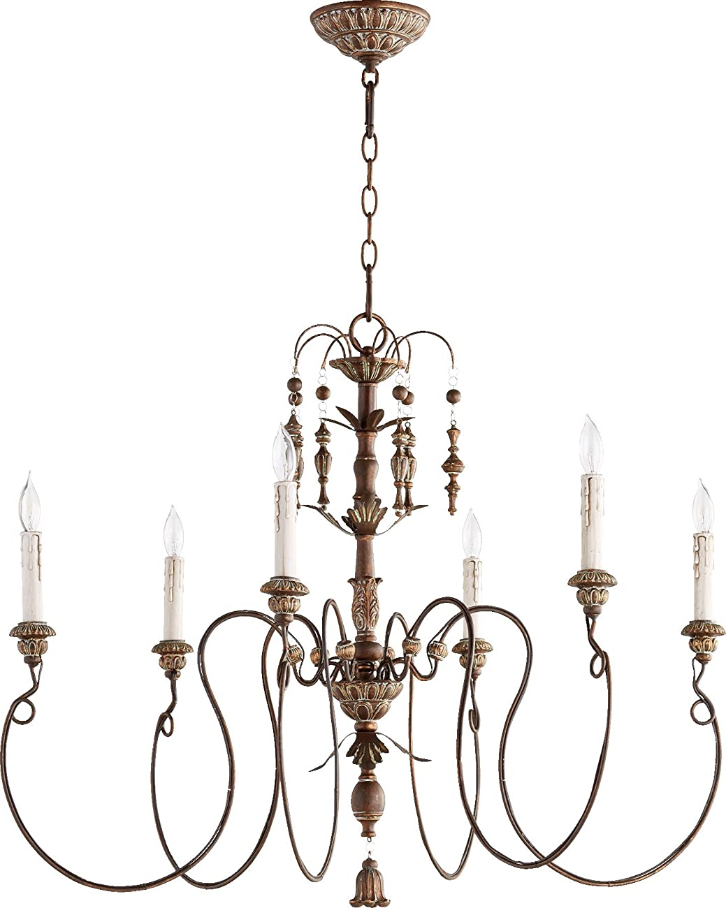 Quorum Lighting 6006-6-39, Salento 1 Tier Chandelier Lighting, 6LT, 120 Watts, Vintage Copper 0