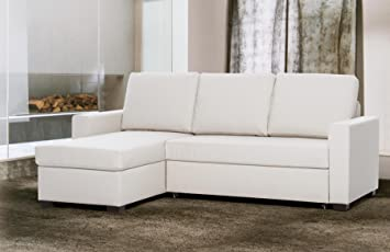 """Sofa bed 3 seater """"Emily"""" with left corner container and prompt delivery 230 x 160 x 85 - Made in Italy"""
