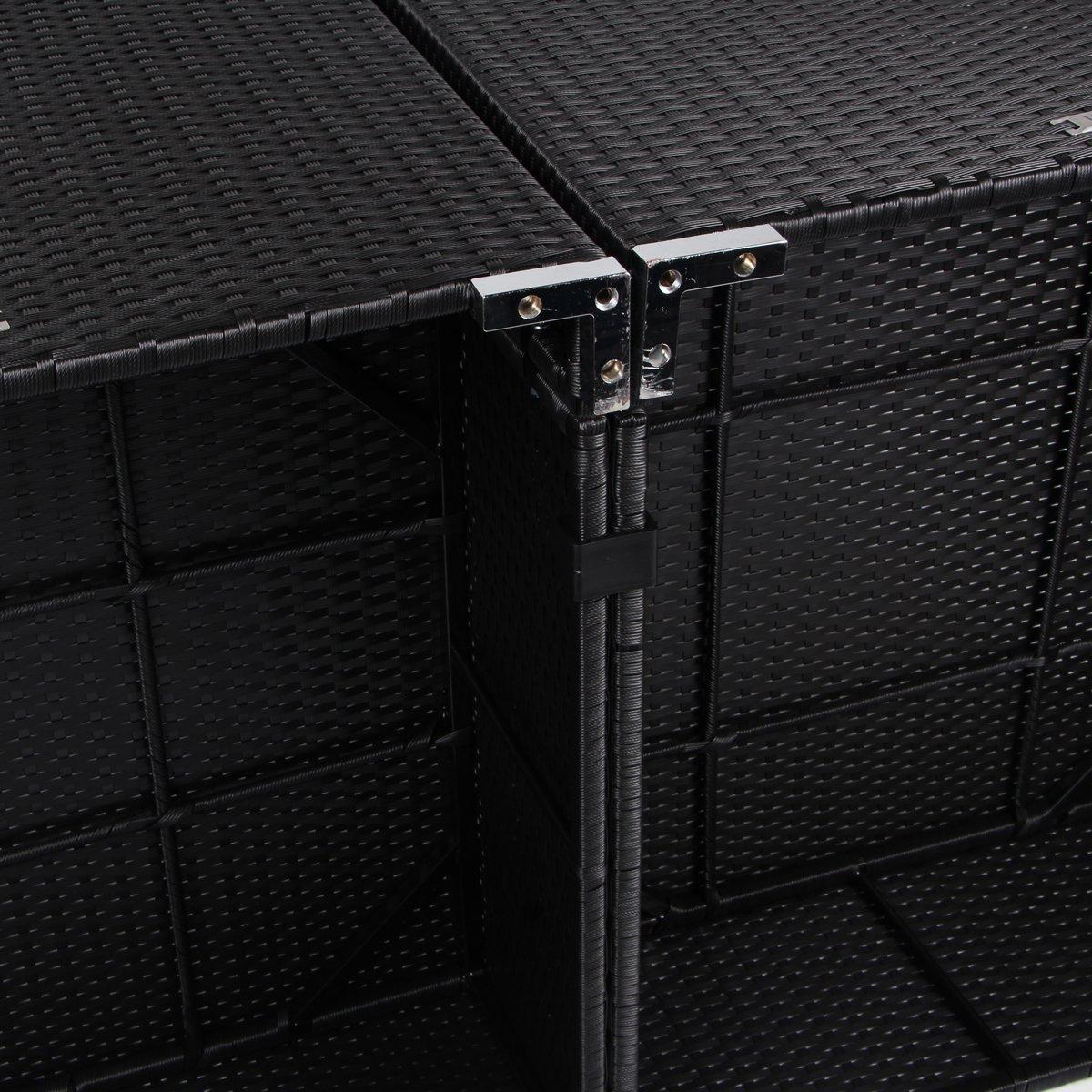 U-MAX 7 Piece 7-12 Pieces Patio PE Rattan Wicker Sofa Sectional Furniture Set (7 Pieces, Black)
