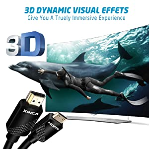 Mini HDMI to HDMI Cable High Speed Mini HDMI HDTV Cable Support 4K- Ultra HD, 3D, 1080p and Ethernet for Camcorders, Camera, HDTV, Projector, Desktop