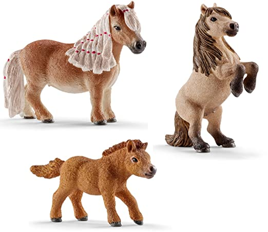 Schleich Figurine Animal Mini Poney Shetland Famille 3 Figurine - 13775 13776 13777