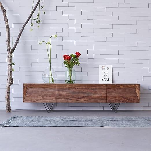 mueble tv televisor televisión consola palisandro madera metric