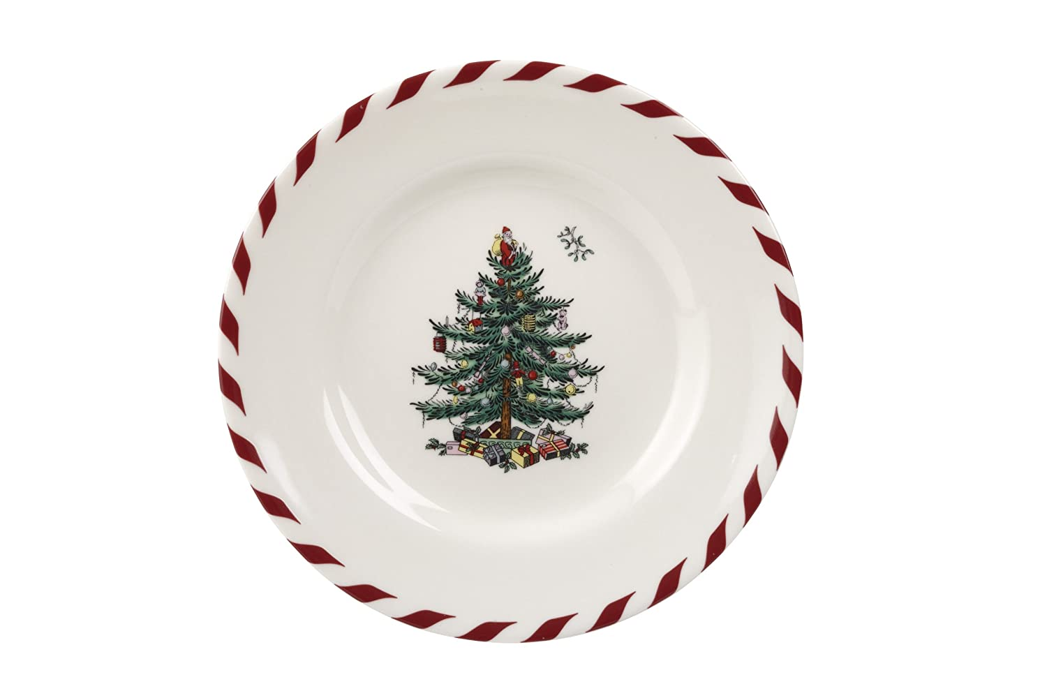 Christmas trees bread and butter appetizer canape plates for Christmas canape plates