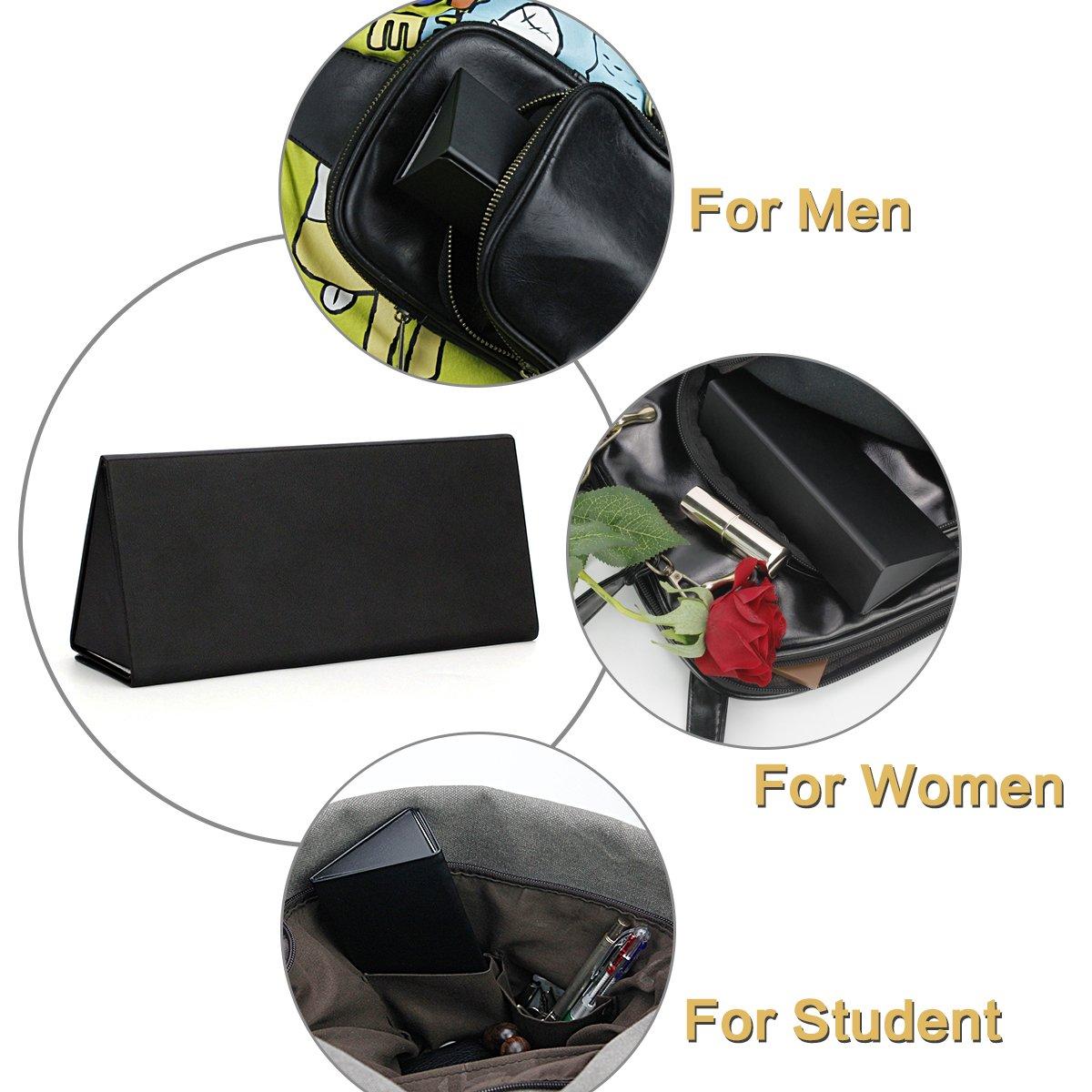 Folding Eyeglasses Case,Ezeso Portable Ultralight Retro Spectacles Box For Men Women 5