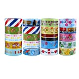 Ciaoed 20 Rolls Washi Tape Set, 15mm Wide Colorful Decorative DIY Craft Masking Tape Set, Festival Gift Wrapping Party Supplies and Home Decoration